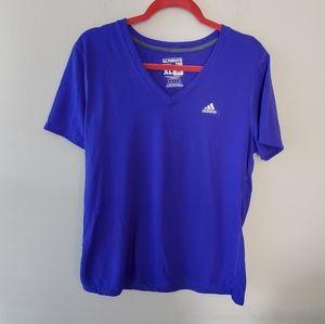 Adidas royal purple active Ultimate Tee size XL